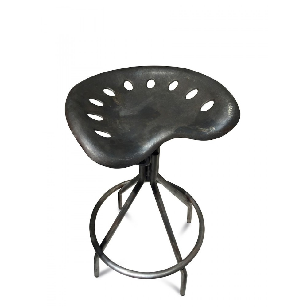 tabouret de bar m tal vintage hauteur ajustable. Black Bedroom Furniture Sets. Home Design Ideas