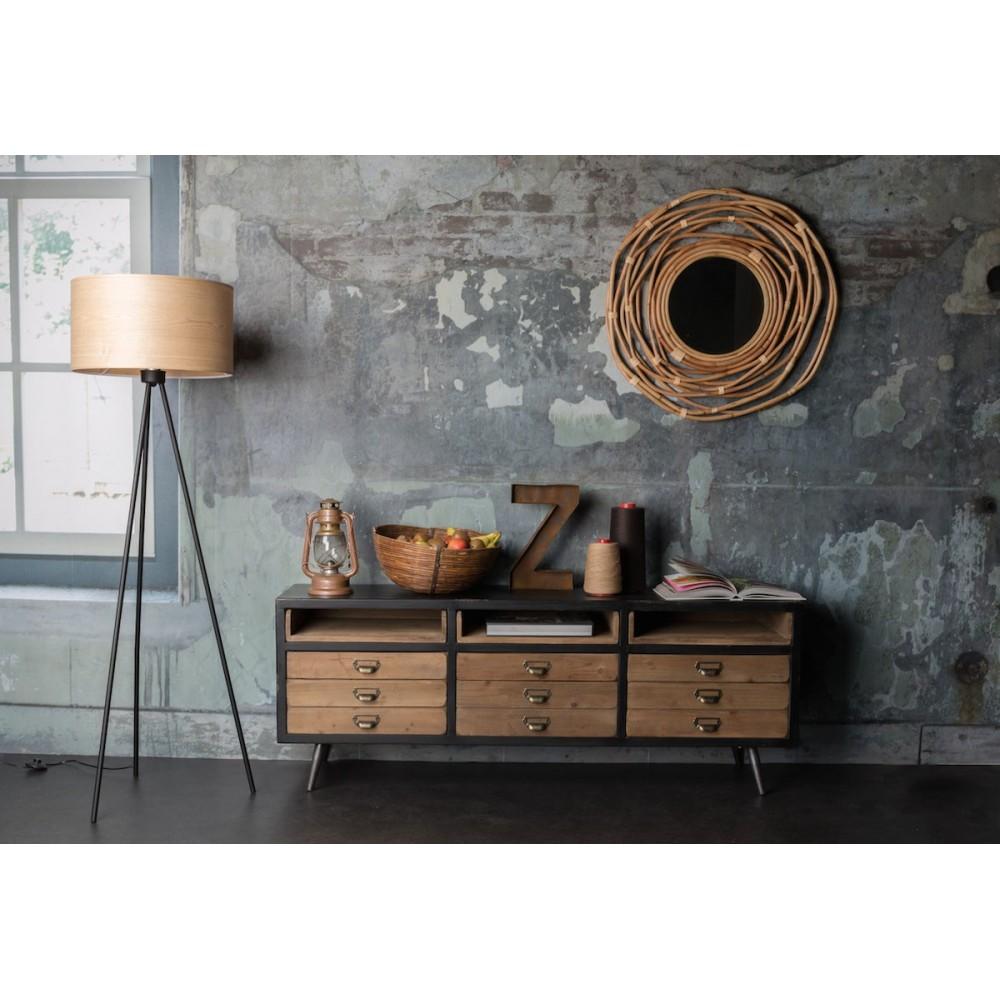 buffet vintage m tal bois sol par. Black Bedroom Furniture Sets. Home Design Ideas