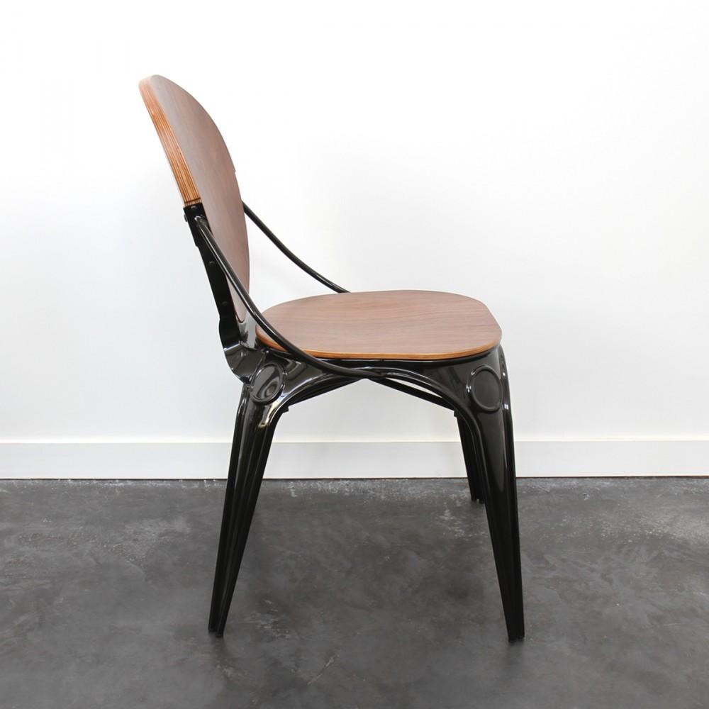 lot de 2 chaises bistro louis x drawer. Black Bedroom Furniture Sets. Home Design Ideas