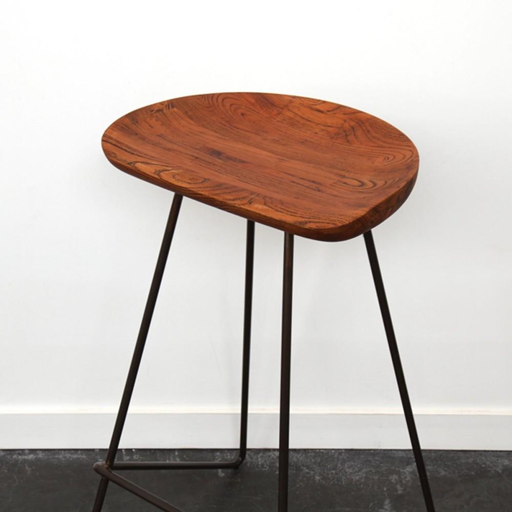 tabouret bois m tal winton by drawer. Black Bedroom Furniture Sets. Home Design Ideas