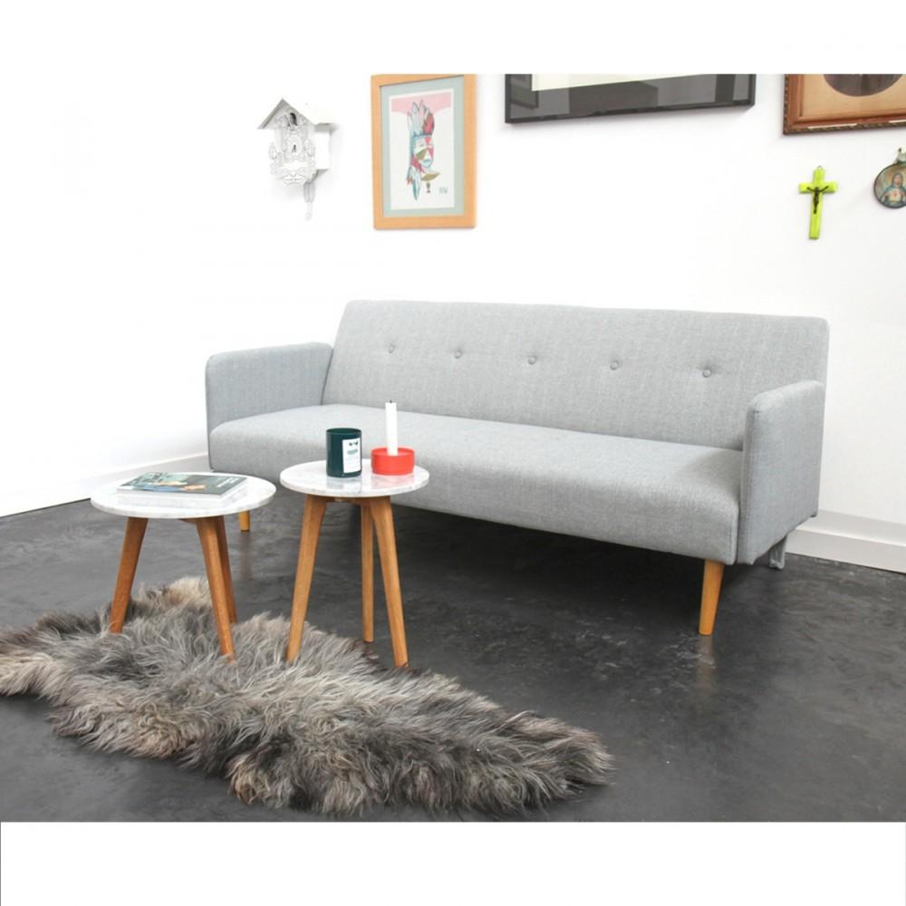 table ronde en marbre blanc white stone s zuiver. Black Bedroom Furniture Sets. Home Design Ideas