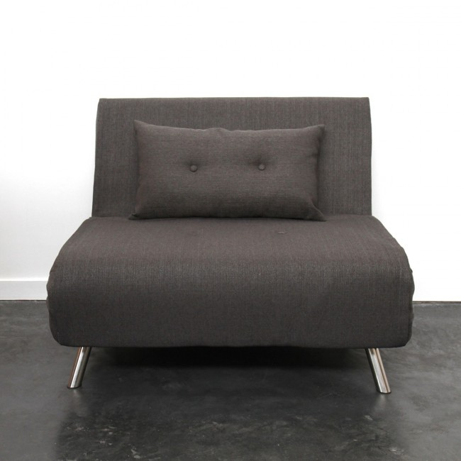 Canapé convertible design compact tissu gris Murphy