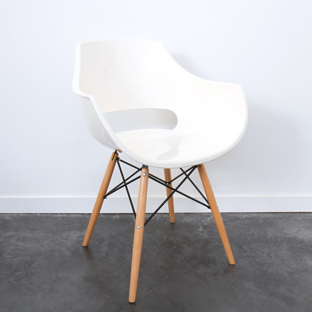 Chaise designer banche skoll pi tement bois by drawer for Chaises soldes design