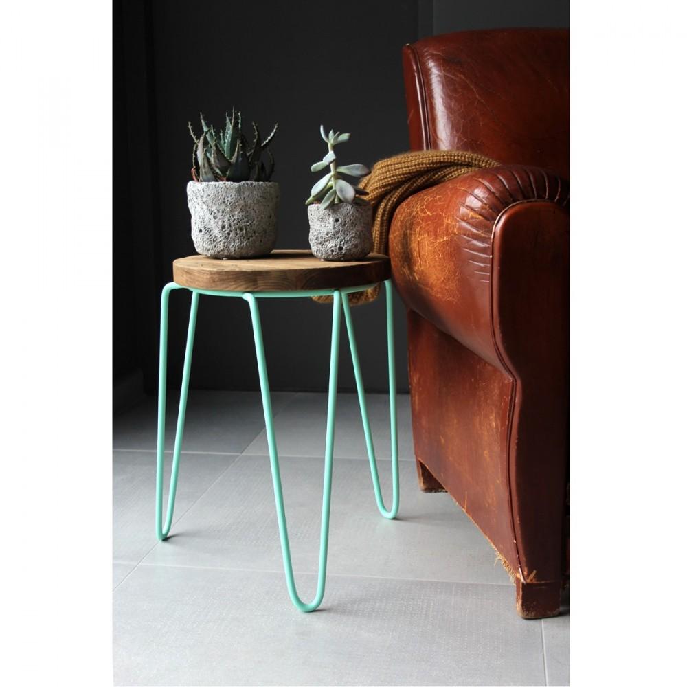 tabouret design m tal et bois spider par. Black Bedroom Furniture Sets. Home Design Ideas