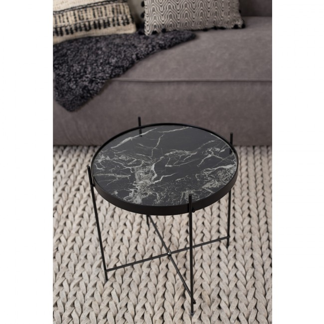 Table basse design ronde Cupid marbre