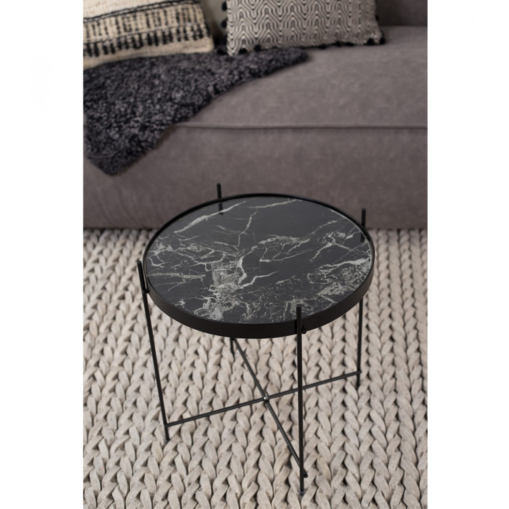 Table basse design ronde cupid small en m tal et verre marbre for Table basse marbre design