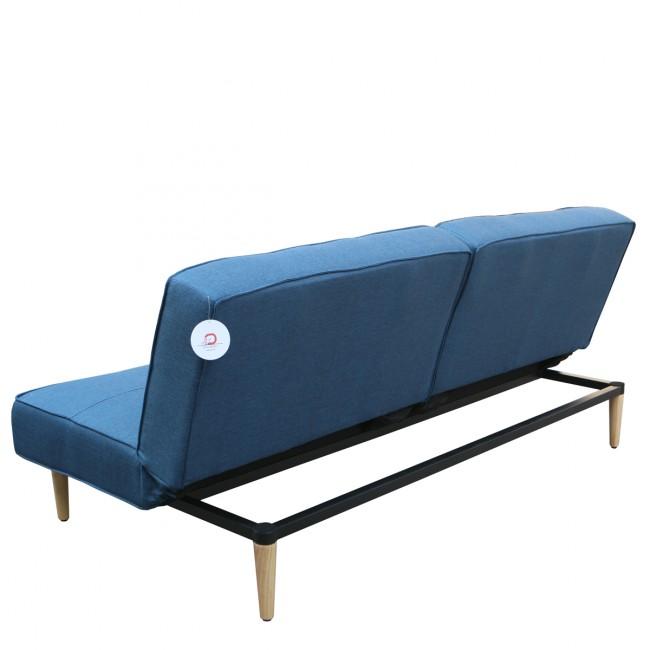 Canapé convertible modulaire 3 places bleu Beatty