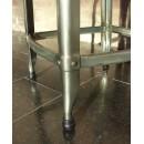 Tabouret de bar industriel hauteur réglable Marx métal finition canon-de-fusil
