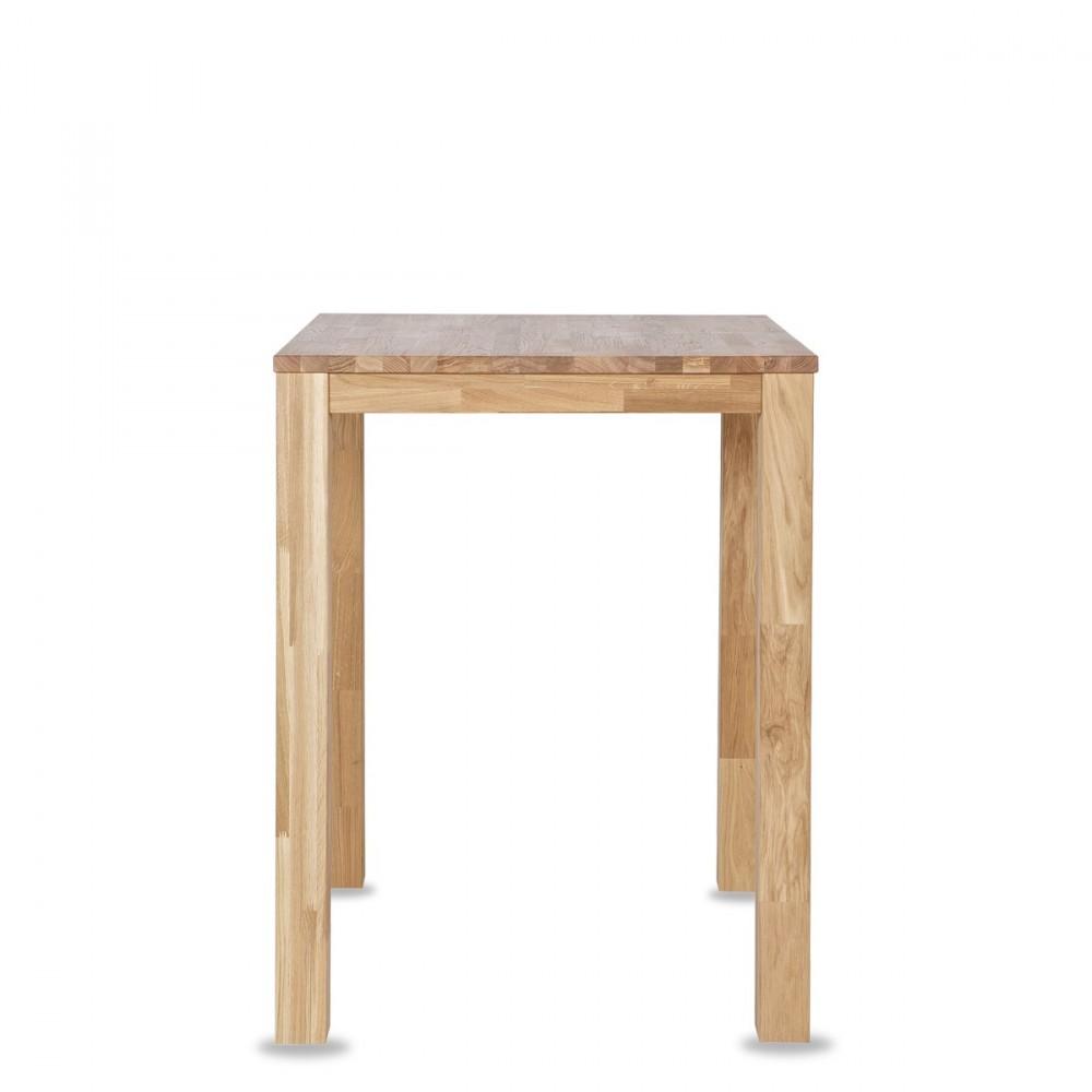 Table de bar en bois 85x85 dutchwood par for Table en chene