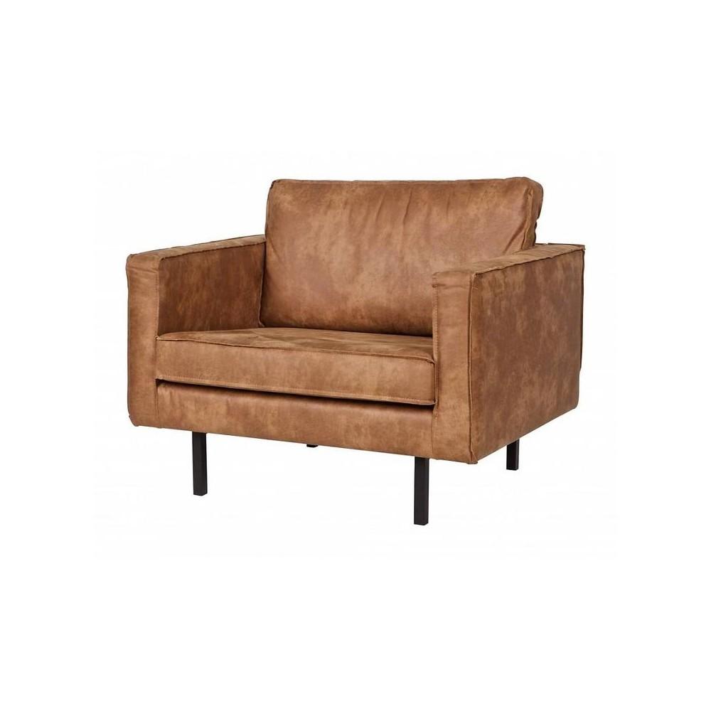 Fauteuil vintage en co cuir bronco par - Les fauteuils en cuir ...