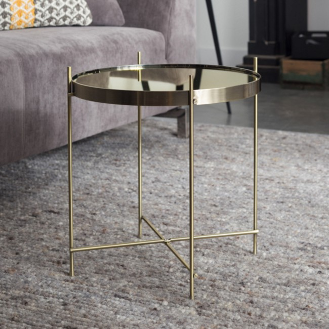 Table basse design ronde Cupid gold Small