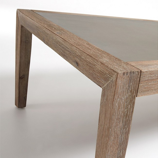 Table basse bois et plateau minéral 120 x 70 Vetter