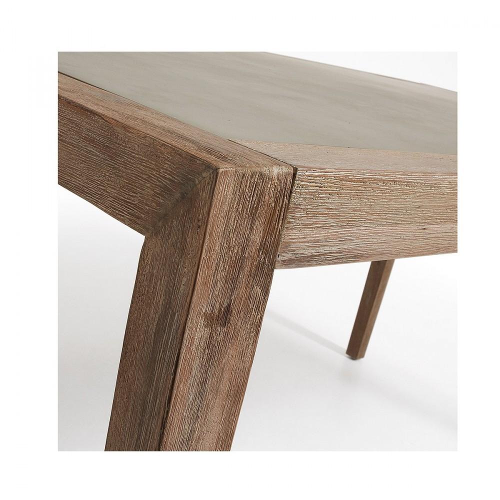 table de jardin en bois d 39 acacia et superstone vetter by. Black Bedroom Furniture Sets. Home Design Ideas