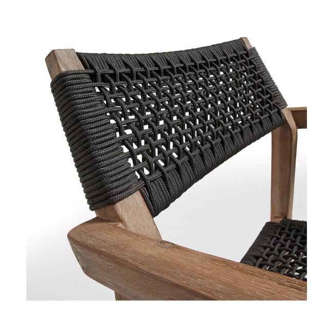 Lot de 2 fauteuils de jardin bois massif et corde Vetter