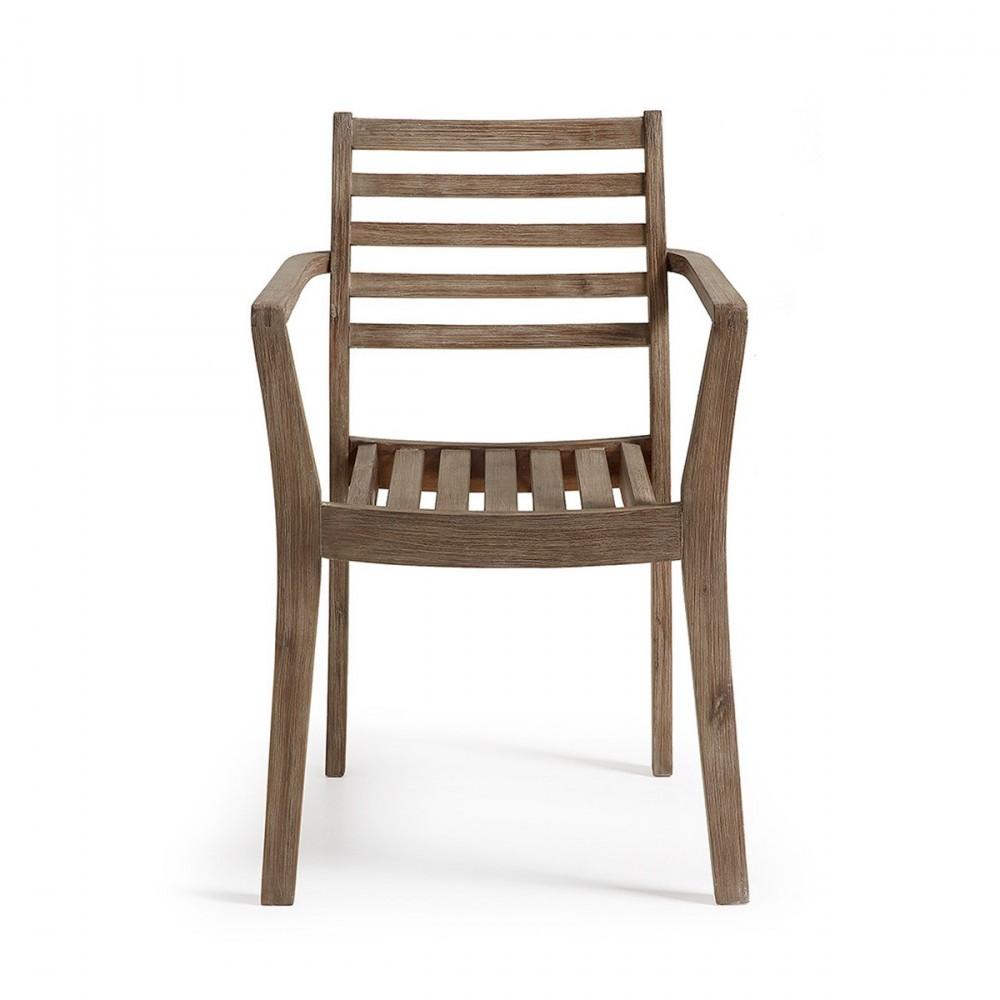 Chaise de jardin en bois massif style contemporain Rekely Drawer