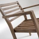 Lot de 2 fauteuils bois massif Rekely