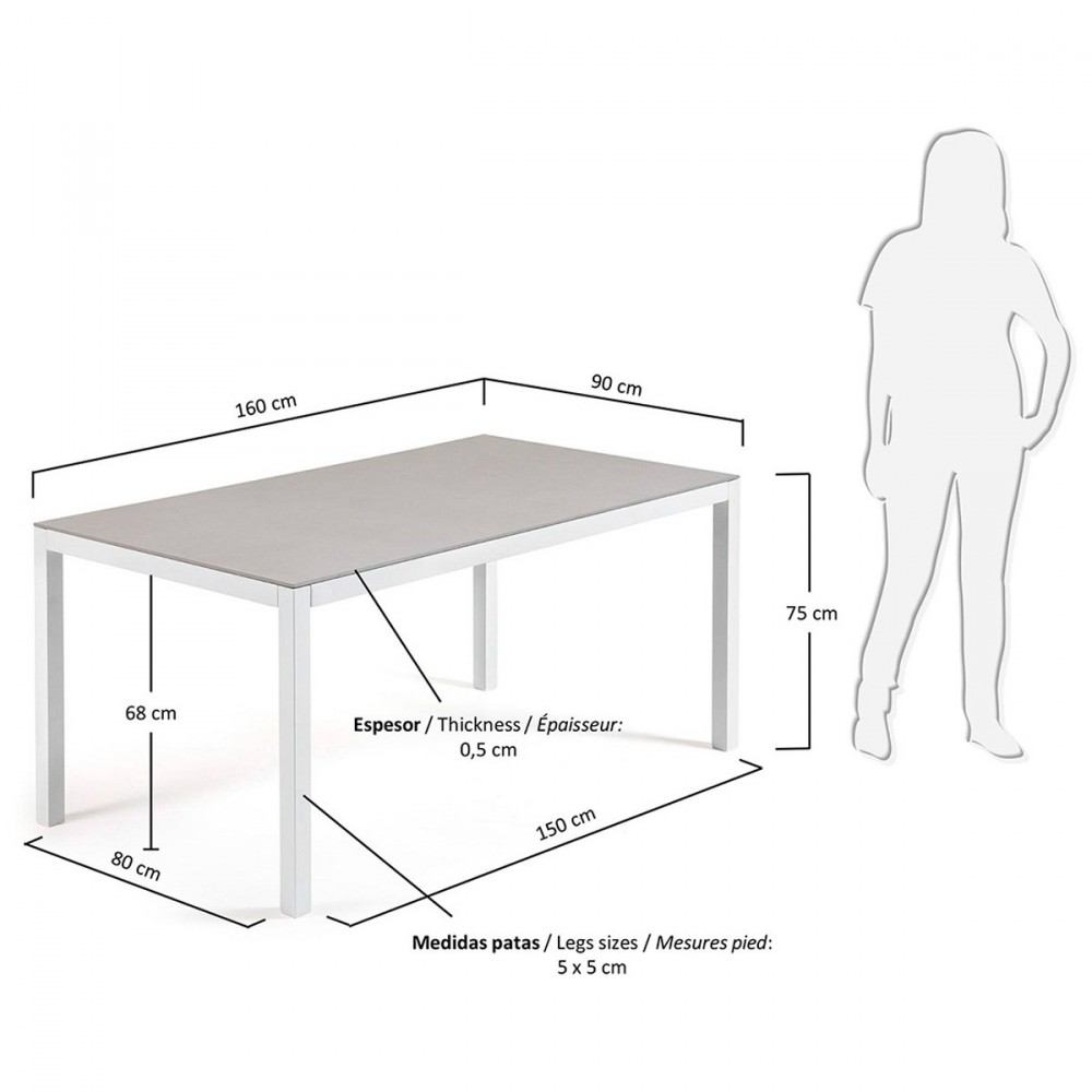 Table de jardin aluminium et verre nessy hydra by drawer for Table de jardin en verre