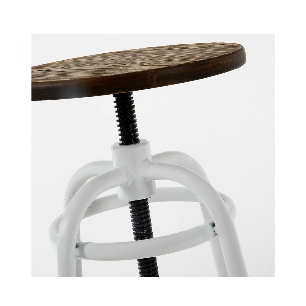 tabouret de bar m tal et bois style industriel malira par drawer. Black Bedroom Furniture Sets. Home Design Ideas