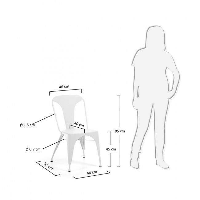 Lot de 2 chaises industrielles métal Mali