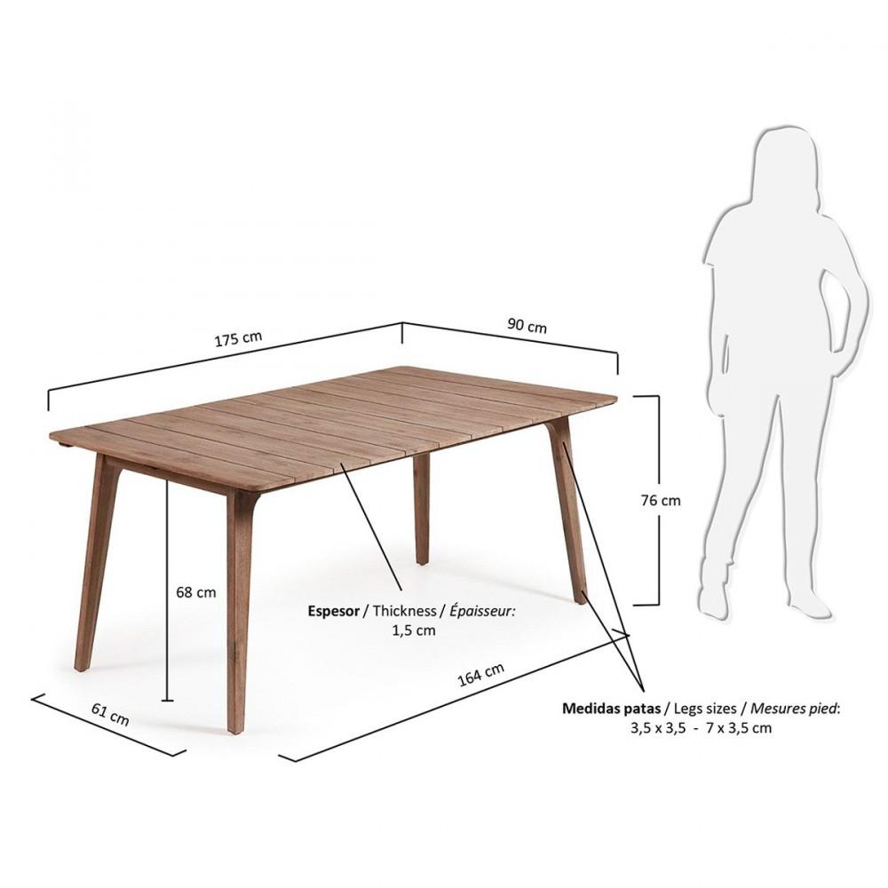 Table bois massif lyon - Table jardin oogarden lyon ...