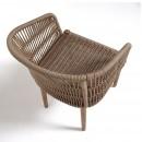 Lot de 2 fauteuils de jardin bois massif et corde Kenart