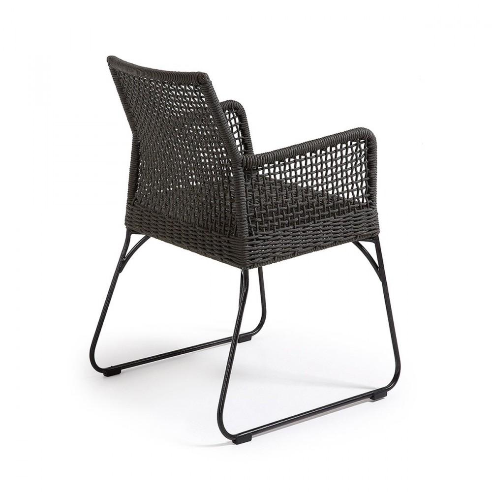 fauteuil de jardin vintage en m tal et polyester kavon by. Black Bedroom Furniture Sets. Home Design Ideas