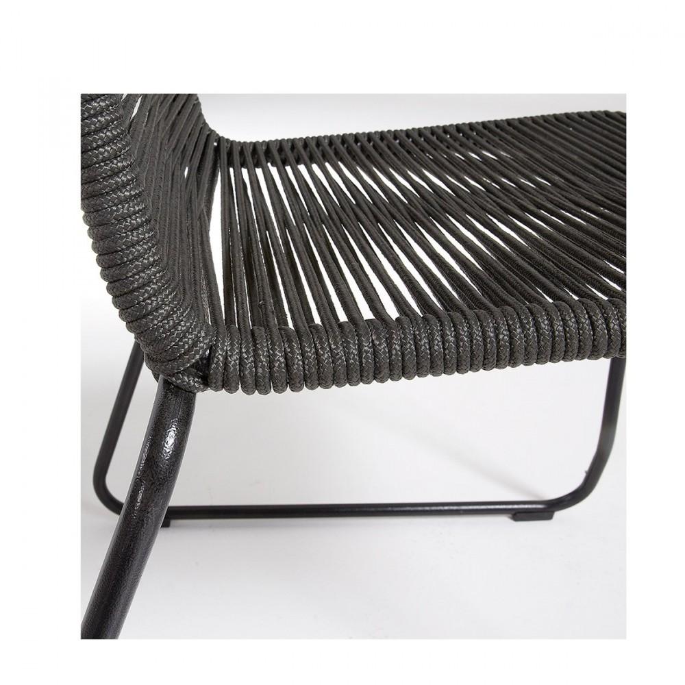 Chaise de jardin vintage en métal et cordes Amirah by Drawer.fr