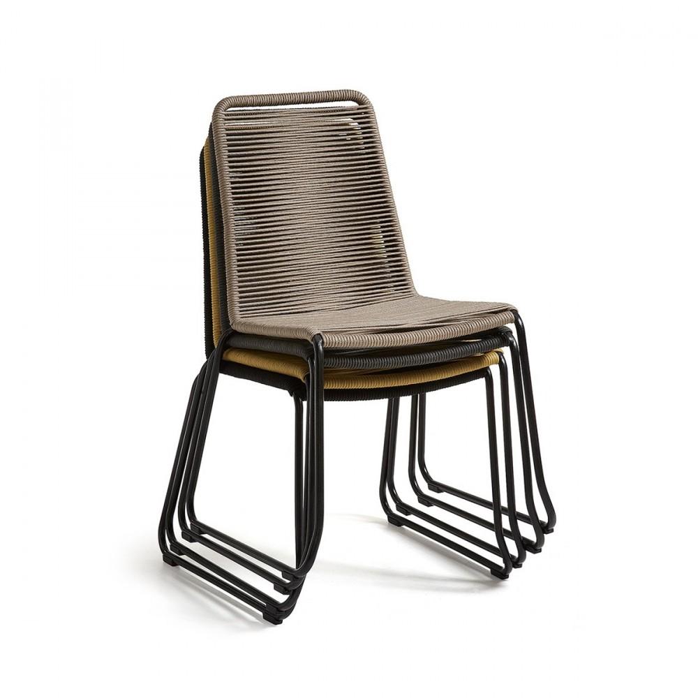chaise de jardin vintage en m tal et cordes amirah by. Black Bedroom Furniture Sets. Home Design Ideas