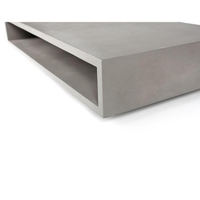 Table basse en béton rectangulaire XL Monobloc