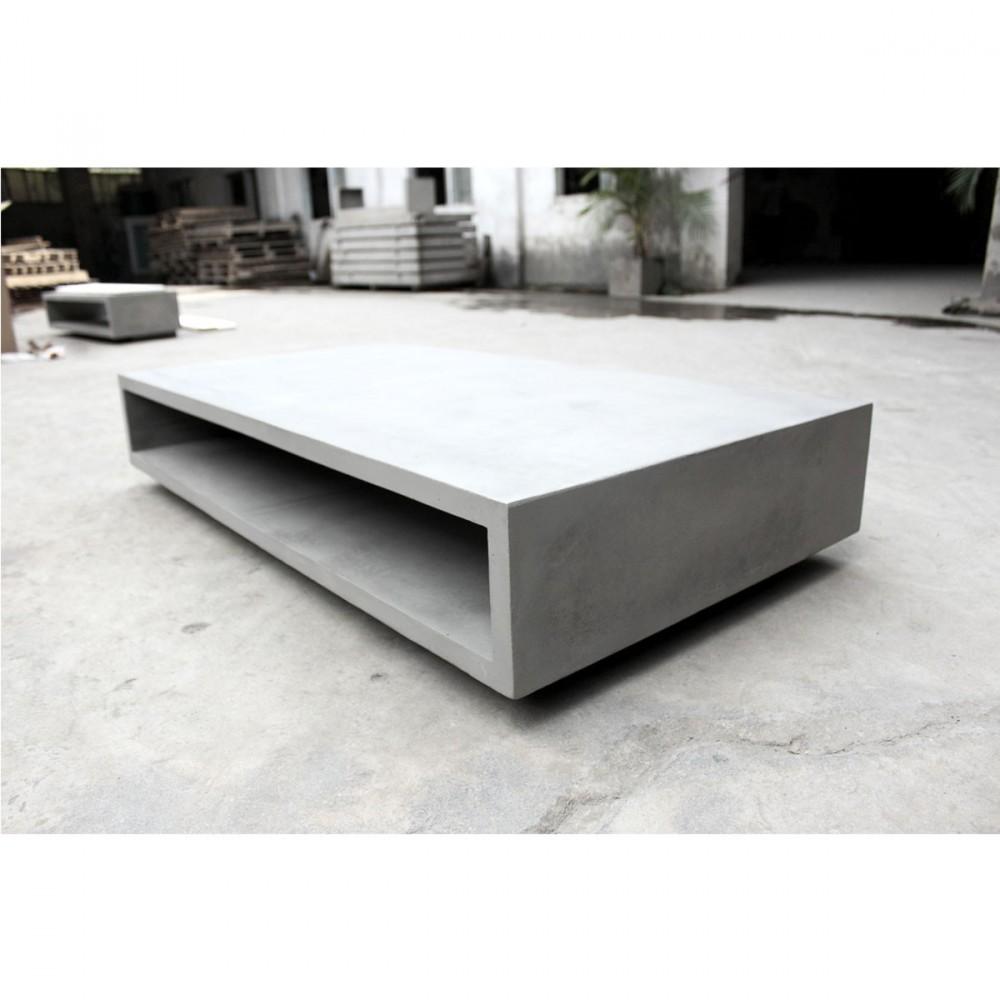 table basse rangement xl en b ton monobloc drawer. Black Bedroom Furniture Sets. Home Design Ideas