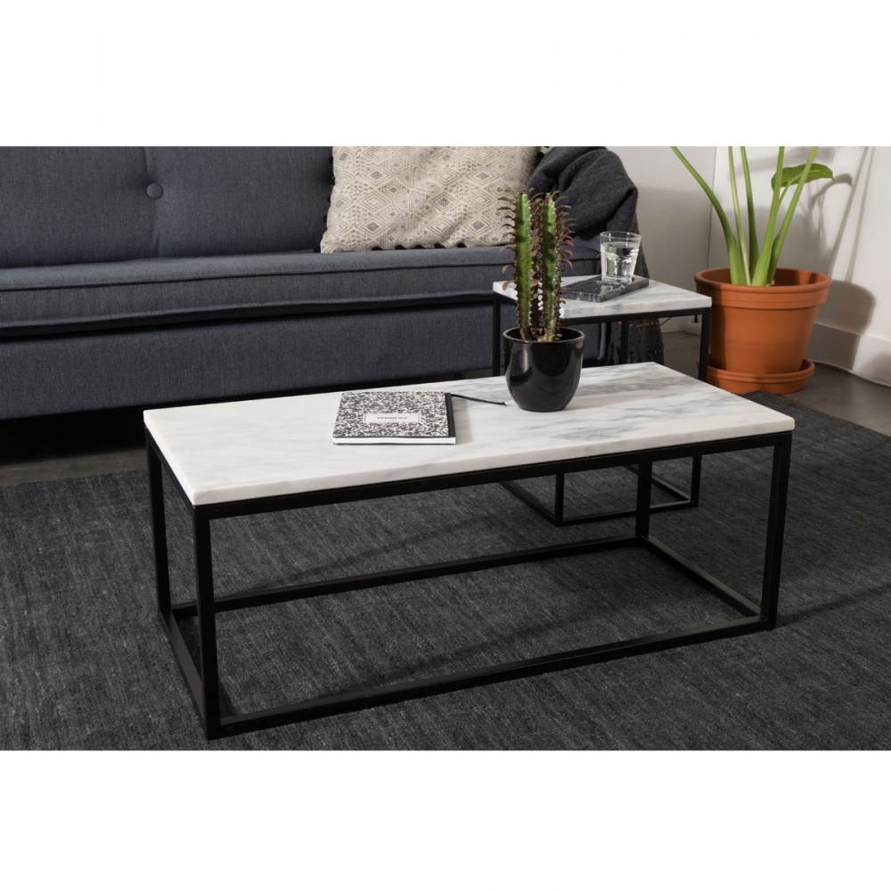 table basse rectangulaire marble power zuiver. Black Bedroom Furniture Sets. Home Design Ideas