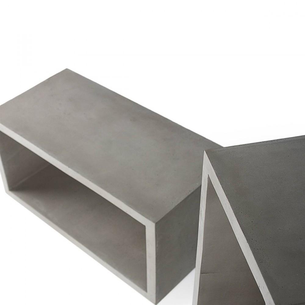 cube de rangement en b ton monobloc m by. Black Bedroom Furniture Sets. Home Design Ideas