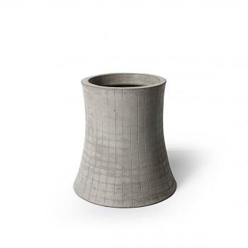 Vase / Cache-pot en béton léger Nuclear Plant 32cm M