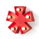 Luminaire astérisque métal rouge Cleef