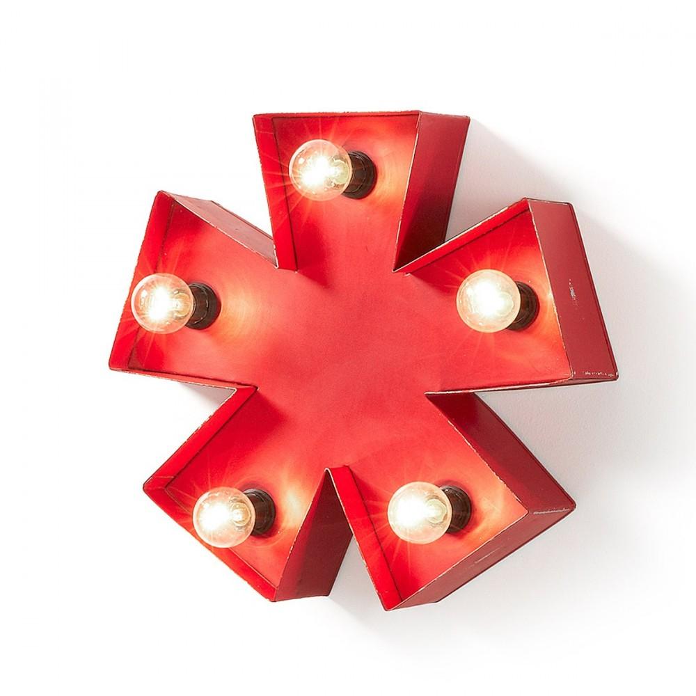 Luminaire ast risque en m tal rouge cleef par for Luminaire rouge