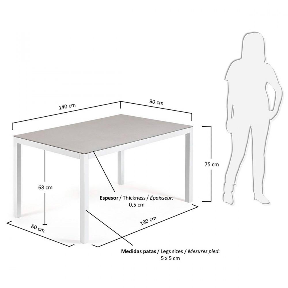 table repas de jardin aluminium et verre nessy hydra by. Black Bedroom Furniture Sets. Home Design Ideas