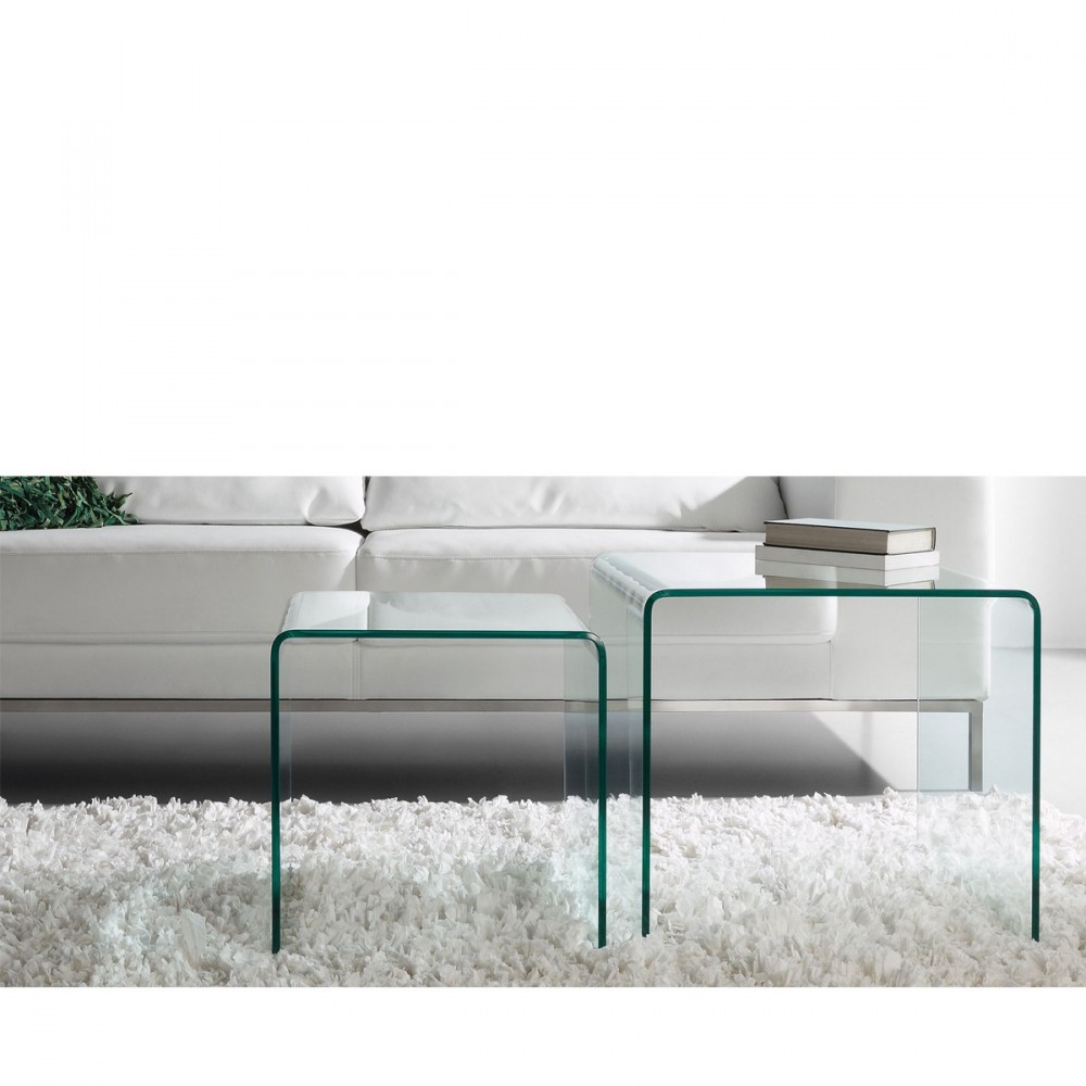 Tables basses gigogne en verre burano par - Support table en verre ...