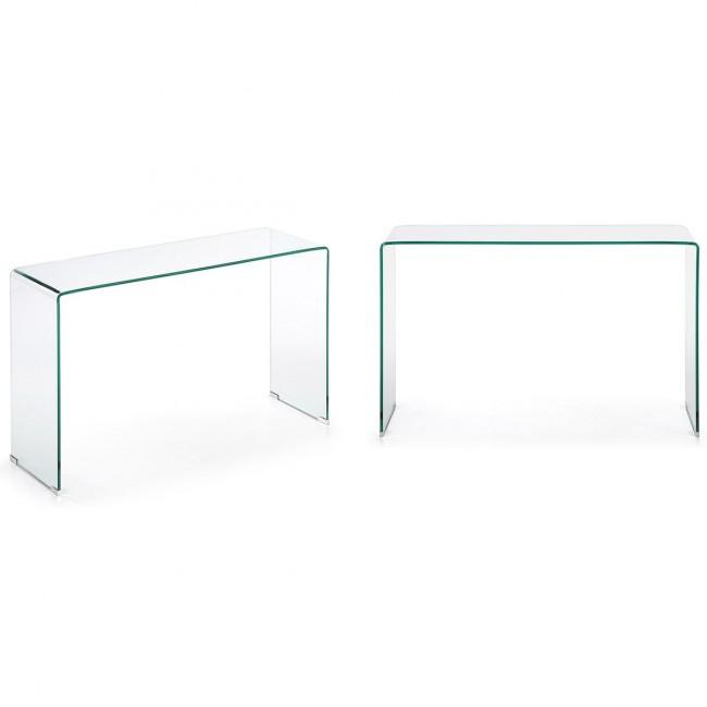 Console verre transparent Burano