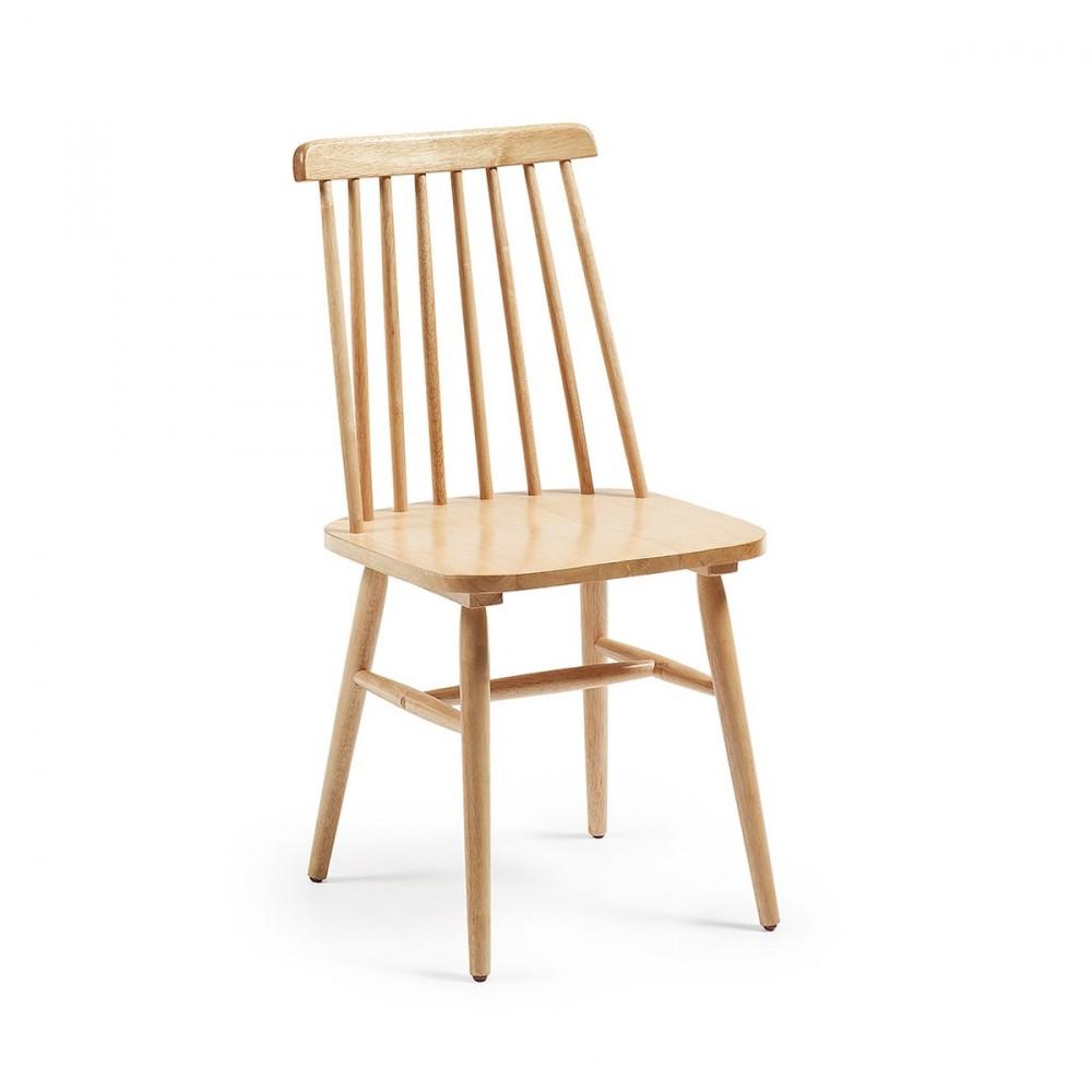 Lot de 2 chaises en bois vintage tressia par for Lot de chaises