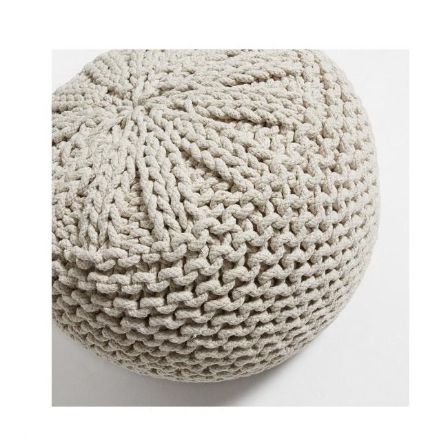 Pouf en coton tricoté Shott
