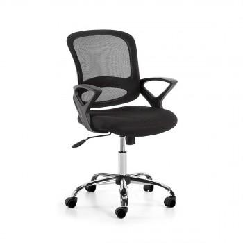 Chaise de bureau pivotante à roulettes Tangier