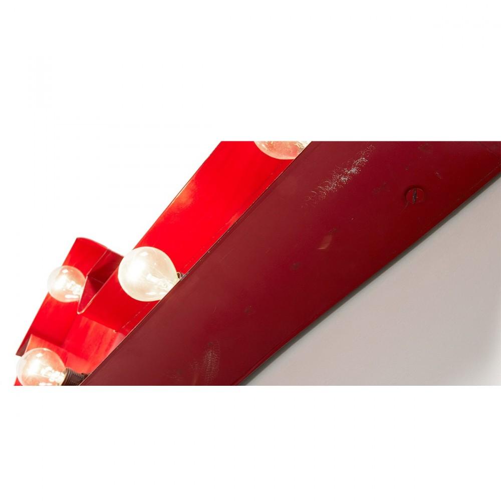 lampe fl che m tallique rouge arcos par. Black Bedroom Furniture Sets. Home Design Ideas
