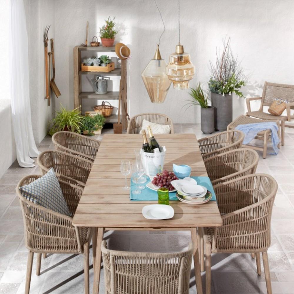 fauteuil de jardin en bois massif et corde kenart by. Black Bedroom Furniture Sets. Home Design Ideas