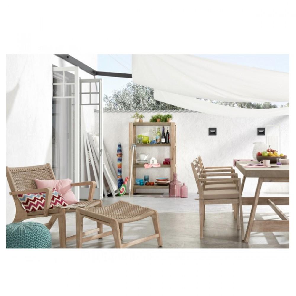 fauteuil de jardin avec repose pied en bois basneti by drawer. Black Bedroom Furniture Sets. Home Design Ideas