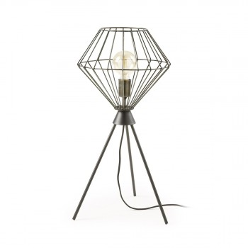Lampe à poser design métal noir Cabana