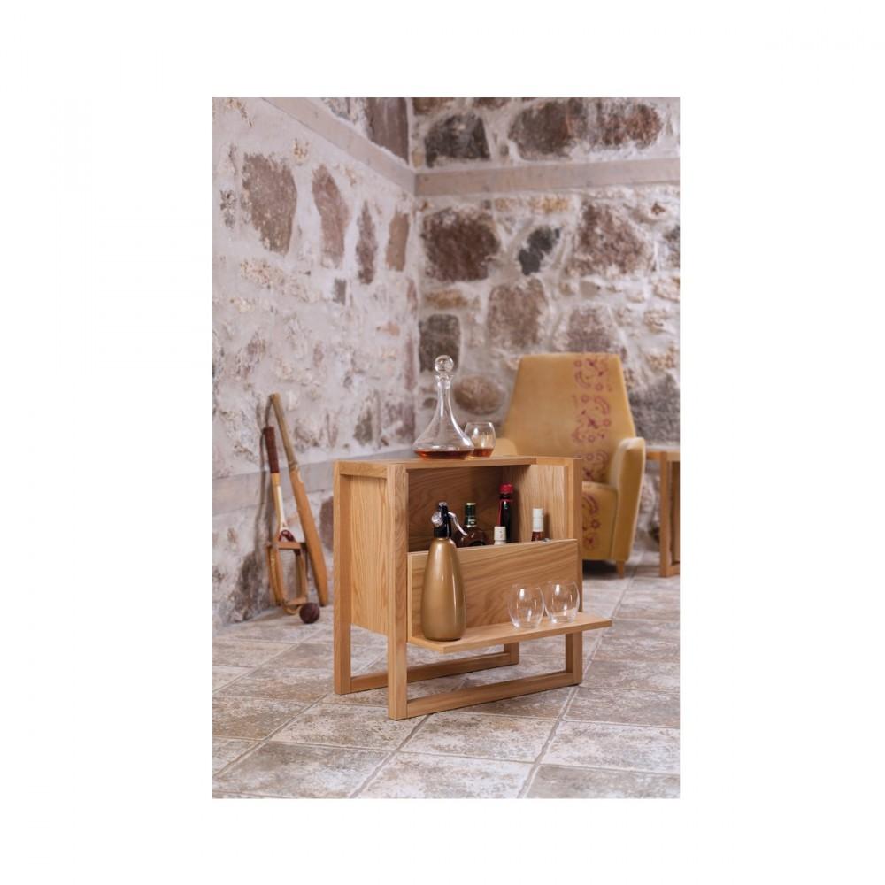 le mini bar bois massif newest séduit par son look en total bois et ...