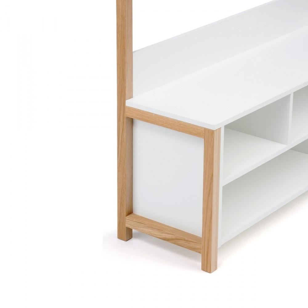 Meuble d 39 entr e design et pratique northgate for Banc tv bois blanc