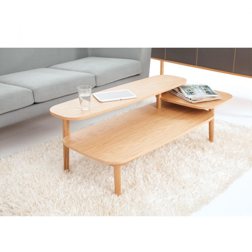 Table basse en bois 3 plateaux eichberg - Table basse ordinateur ...