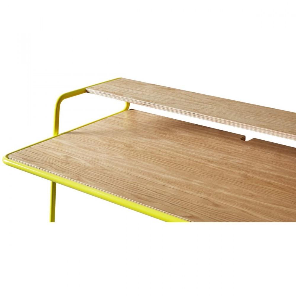 bureau bois metal bureau metal bois bureau en m tal et. Black Bedroom Furniture Sets. Home Design Ideas