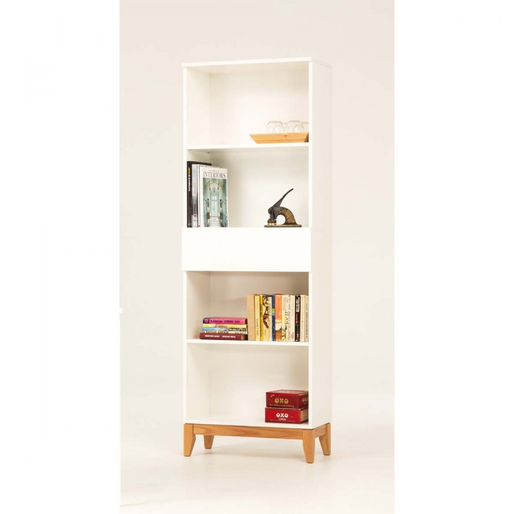 Biblioth que design scandinave blanco par - Bibliotheque bois design ...